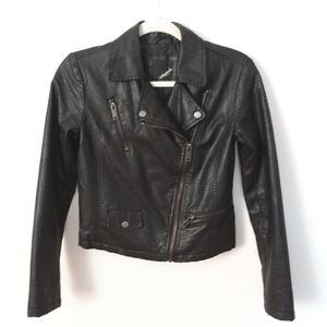 Collection B New York Black Leather Zipper Jacket